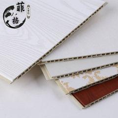 600宽竹木纤维集成墙面板 大理石纹壁纸纹卡通纹平缝V缝快装墙板 600*9mm