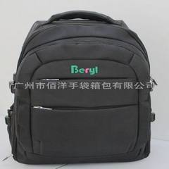 Middle and high - end fashion leisure backpacks, travel bags can be customized black