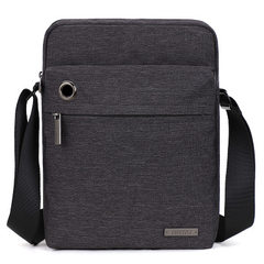 Tianyi new leisure outdoor single shoulder bag Korean version of men upright with headphone hole obl Dark blue