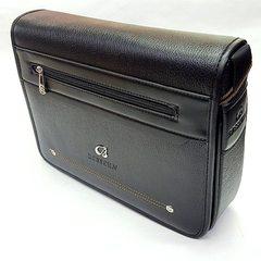 Boslon wholesale 8960 men`s casual single shoulder oblique bag horizontal PU men`s bag trend hot sty black