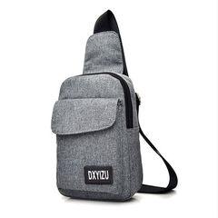 New type breast bag men`s single shoulder slanted waist leisure bag canvas sports men`s bag women`s  black