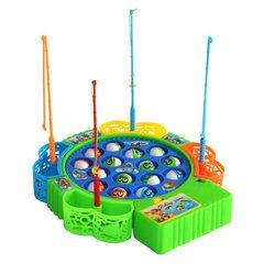 电动音乐旋转钓鱼盘 套装宝宝益智玩具批发男女孩 儿童钓鱼玩具 颜色随机