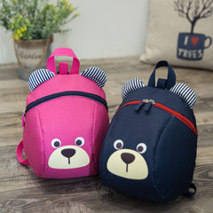 Wholesale 2018 new anti-loss backpack bear nursery school backpack fashion personality Oxford cloth  pink