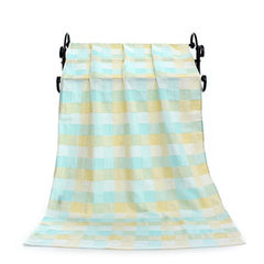 Pure cotton gauze bath towel double color lattice beach towel baby babies were carried by 70*140 tow green 70 * 140