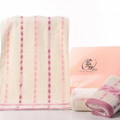 Factory direct sale of cotton twist-free soft water absorbent plain jacquard small house bath towel  powder 140 x70
