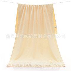 Bath towel super fine fiber bath towel 70*140 bath towel custom logo gift bath towel company group p Lace lace lace creamy white 70 * 140