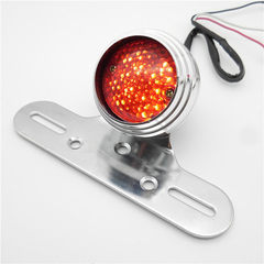 Foreign trade export manufacturers wholesale plating silver circular electric car taillight Halley m Silver shell + red cover +LED