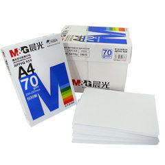 晨光 A4打印 复印纸 a4木浆 70g 白纸 a4纸 APYVQ959 蓝包装 白色