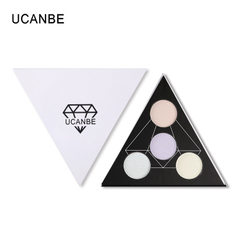 Ucanbe four-color eyeshadow make-up high optical disc chameleon four-color highlight powder cake rep 01 #