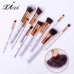 Xixi Dali stone line makeup brush 10 sets of foundation brush eyeshadow powder paint brush contourin Marble black brush