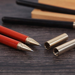 Craftsmanship pen mahogany neutral pen graduates of the company annual high school anniversary gifts Sandalwood (red)