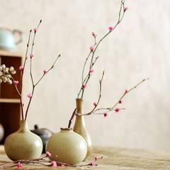 Chai burn coarse ceramic floret vase flower vase jingdezhen vase home furnishing ceramic gifts whole Large (flower + bottle)