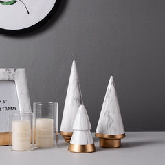 Ceramic crafts decoration marble modern simple Christmas tree creative living room household decorat May the Christmas tree
