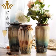 Creative ceramic vase three pieces set simple european-style dry vase sitting room jingdezhen cerami Diameter 12.5cm, height 30cm