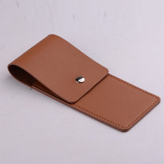 Korean version of the pu leather pen cover pen protection cover leather imitation pen bag manufactur orange