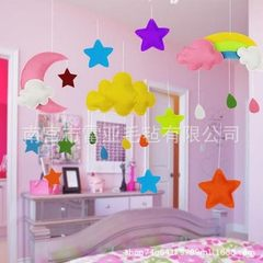 Hand-made yunduo rain drop kindergarten hanging decorations children`s room hanging decorations deco Clouds 36*21cm+ raindrops 4*7cm