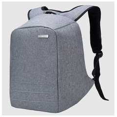Double shoulder bag man Korean version outdoor travel bag hot style anti-theft business computer bac 1886 gray 15