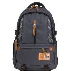 百佳威双肩包男士大学生休闲电脑包高中学生书包大容量旅行背包 黑色 32寸