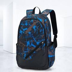 韩版学院风高中 大学生书包时尚潮流男士背包行李箱包 户外双肩包 红色 15寸