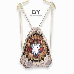 621双肩抽绳包埃及狮子图案印花男士束口包潮酷个性束口背包 埃及狮子 其他尺寸