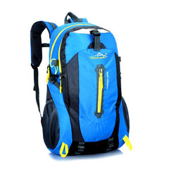 新款户外运动爬山旅行防水耐磨背包 厂家来样定制批发登山双肩背 绿色