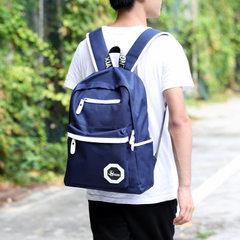 厂家直销男士双肩包牛津布背包初中高中学生书包男时尚潮流男包包 蓝色 14寸