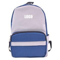 男士双肩包男户外休闲旅行背包大学生高中学生书包时尚厂家直销 蓝色