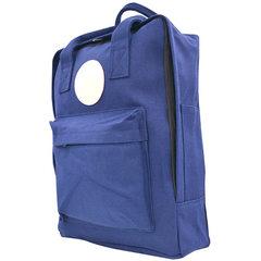 男女士帆布包包休闲双肩包户外旅游包韩版学生书包厂家直销 深蓝色