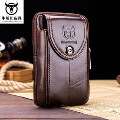 Captain niu`s men wear leather belt mobile phone with multi-function hook genuine leather 4.7.5.5.6  Purse - 03