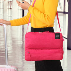 New business travel large capacity oblique satchel single shoulder bag ipad bag men and women multi- Water lake blue