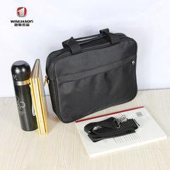 Manufacturer wholesale custom document conference bag salesman briefcase Oxford cloth single shoulde black