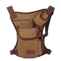 F373 high road new canvas men`s bag fashionable breast bag leisure canvas bag khaki