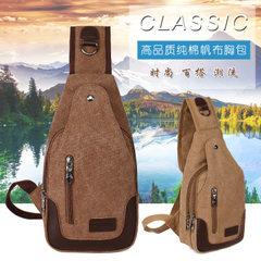 New style canvas men oblique cross - breast bag fashion casual wear - resistant one-shoulder bag out khaki