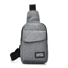 Men`s chest bag new style leisure oblique satchel sports single shoulder bag charging Korean version black