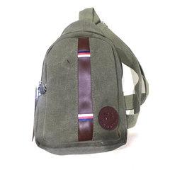Wholesale men`s canvas, Korean style leisure belt, oblique straddle backpack bag, single shoulder, o Paragraph 1