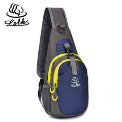 Spot wholesale leisure chest bag waterproof nylon outdoor sports single shoulder slanted breast bag  blue