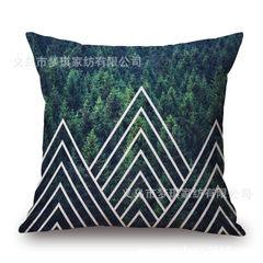 梦琪家纺现代简约棉麻抱枕套北欧创意几何沙发靠垫汽车靠枕 87197 45cm单独枕套