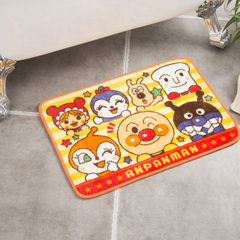 Can come to the map custom cartoon bread superman printing pad anti-skid mat door mat bedroom kitche Yellow (yellow edge) 450 * 650 mm