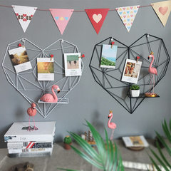 Tieyi grid photo wall creative ins dorm hanging seamless nail photo frame wall photo wall rope clip  Heart white