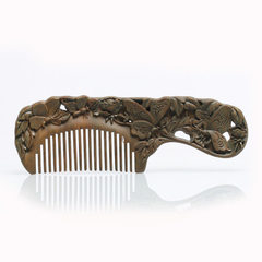 Manufacturers direct selling natural sandalwood comb products customized massage health care wooden  Natural color