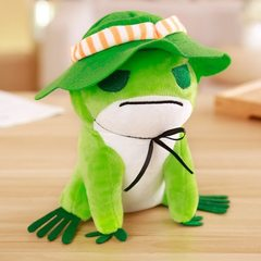 Traveling frog stuffed frog stuffed frog stuffed frog stuffed frog toy doll valentine`s day birthday As shown in figure 20 cm