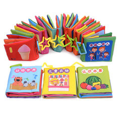 Baby cloth book baby toys baby cloth book baby teaching AIDS develop intelligence early education li 18 photos in a set of 18