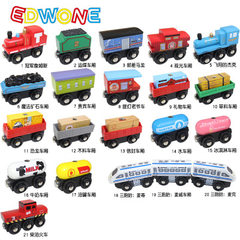 EDWONE木制磁性小火车适用木制轨道可连百变托马斯小火车木质火车 E1 冠军詹姆斯
