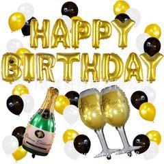 亚马逊热销 气球装饰用品 生日派对套装 铝箔气球 香槟酒瓶气球