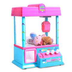 欧宝953USB儿童抓娃娃机迷你抓物机音乐夹公仔抓球机投币游戏机