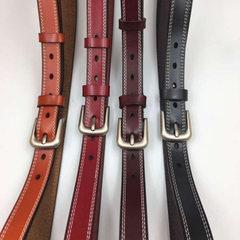 Summer new women belt belt belt leather needle buckle antique leather belt women`s casual belt manuf black