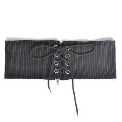 Black/white fashionable back zipper for European and American ladies wide belt elastic elastic elast Stripe 62cm waist circumference 60-80 cm