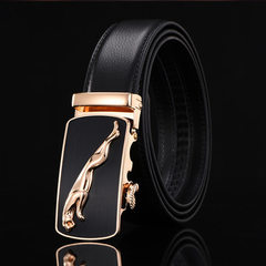 Automatic buckle belt gifts men`s leisure business belt high-end belt buckle belt strap belt manufac Contact customer service to customize 110-130cm