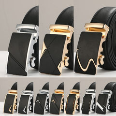 Italian leather men leather belt leather belt leather belt automatic buckle two layers of leather be B601