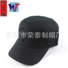 Korean version of the classic black flat-topped cap custom cotton washing hats men and women leisure red